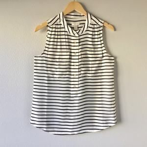 NEW J.CREW Elodie Sleeveless Silk Blouse - Size 6